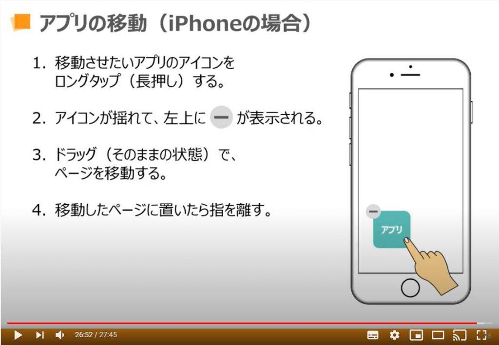 アプリの移動(iPhone等のiOS端末の場合)