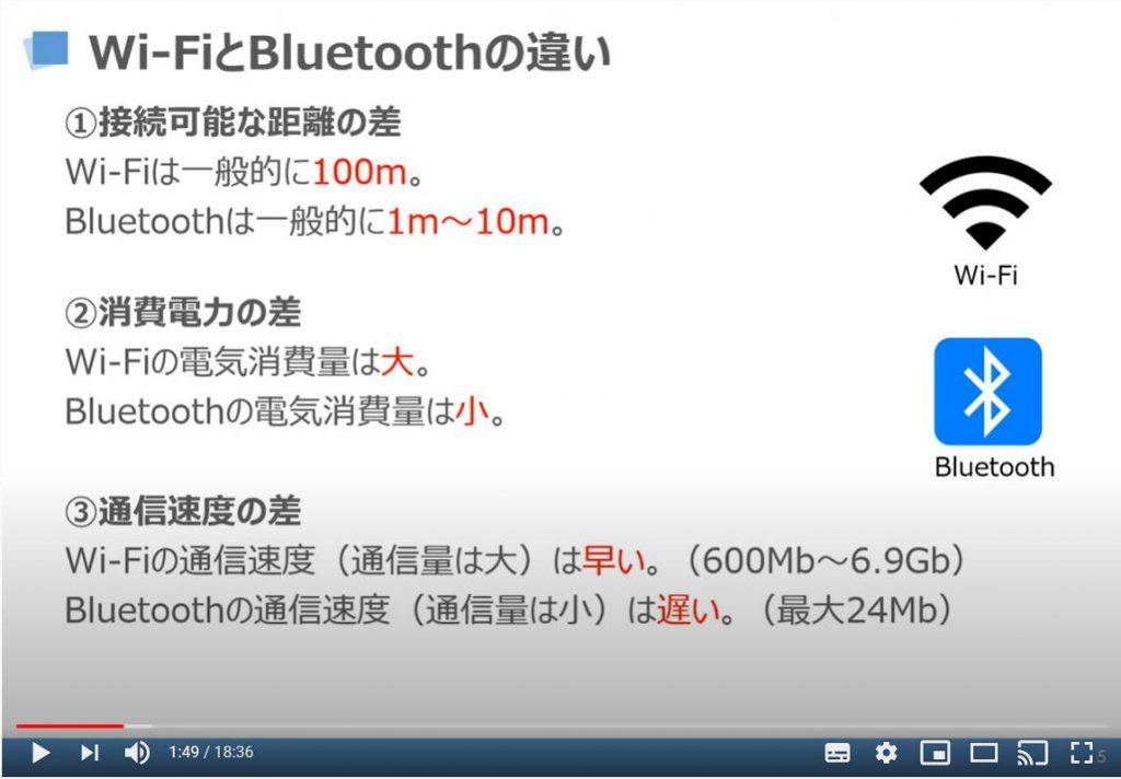 Wi-FiとBluetoothの違い