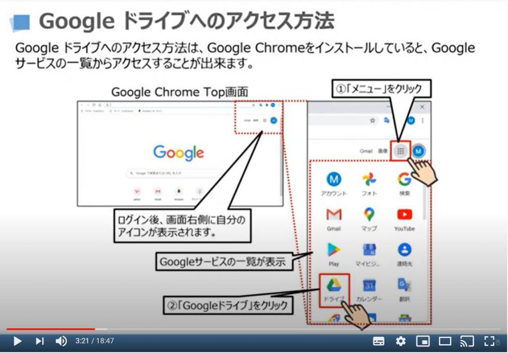 Googleドライブへのアクセス方法