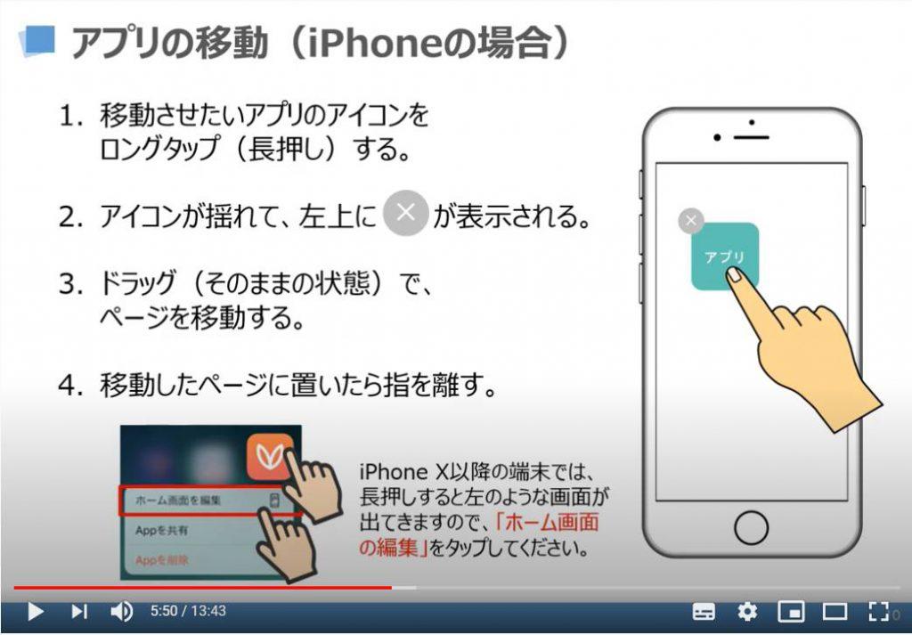 アプリの移動(iPhoneの場合)