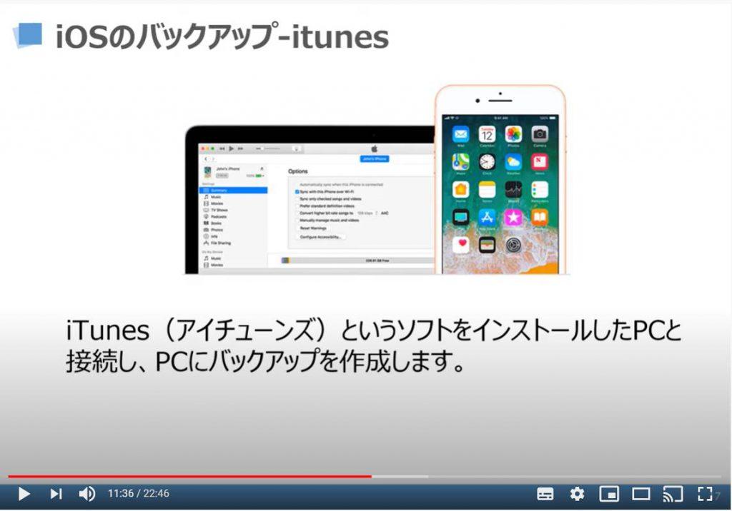 iOSのバックアップ(iTunesを利用)