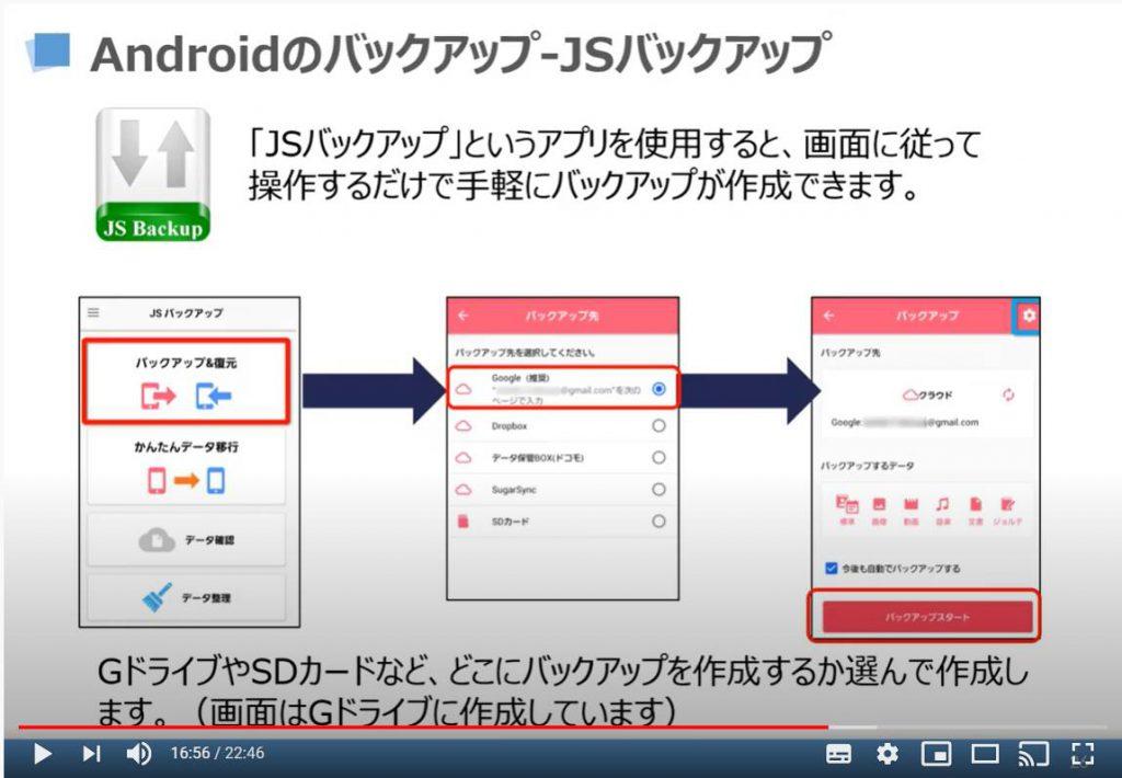 Android端末のバックアップ方法(JSバックアップを利用)