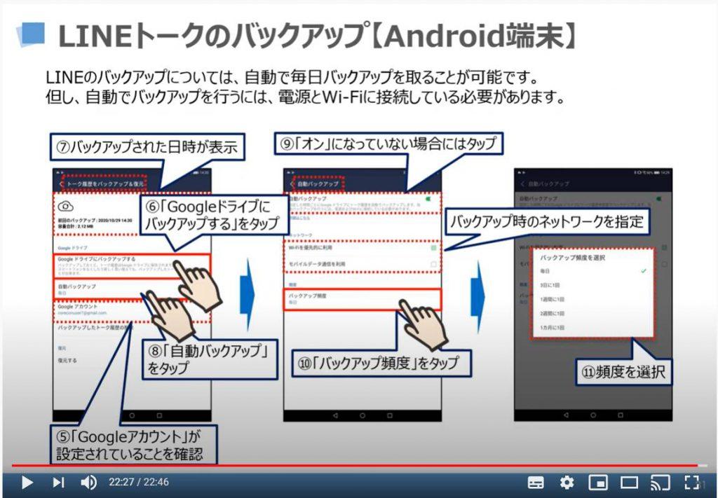 LINEトークのバックアップ方法(iAndroid端末の場合)