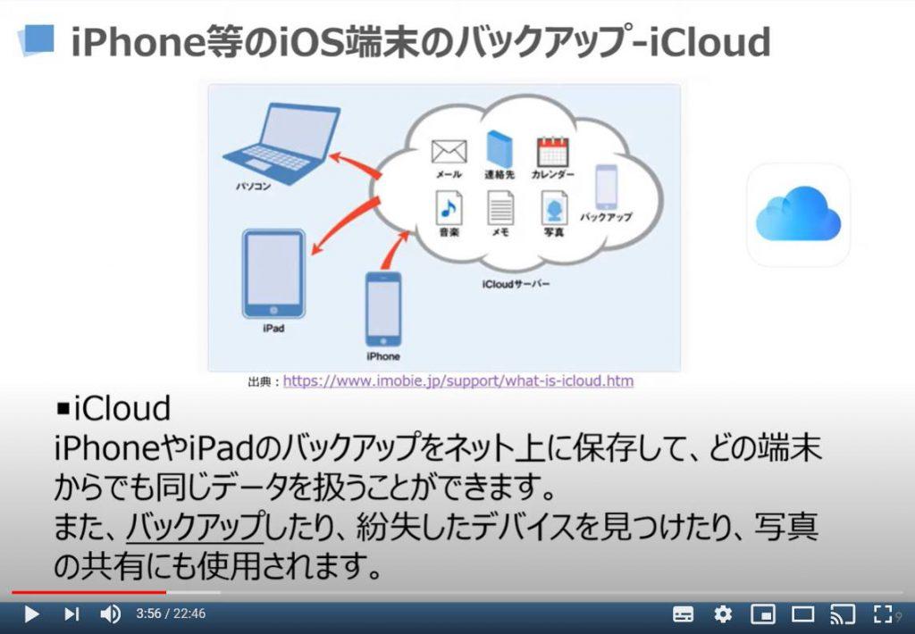 iPhone等のiOS端末のバックアップ方法(iCloud)