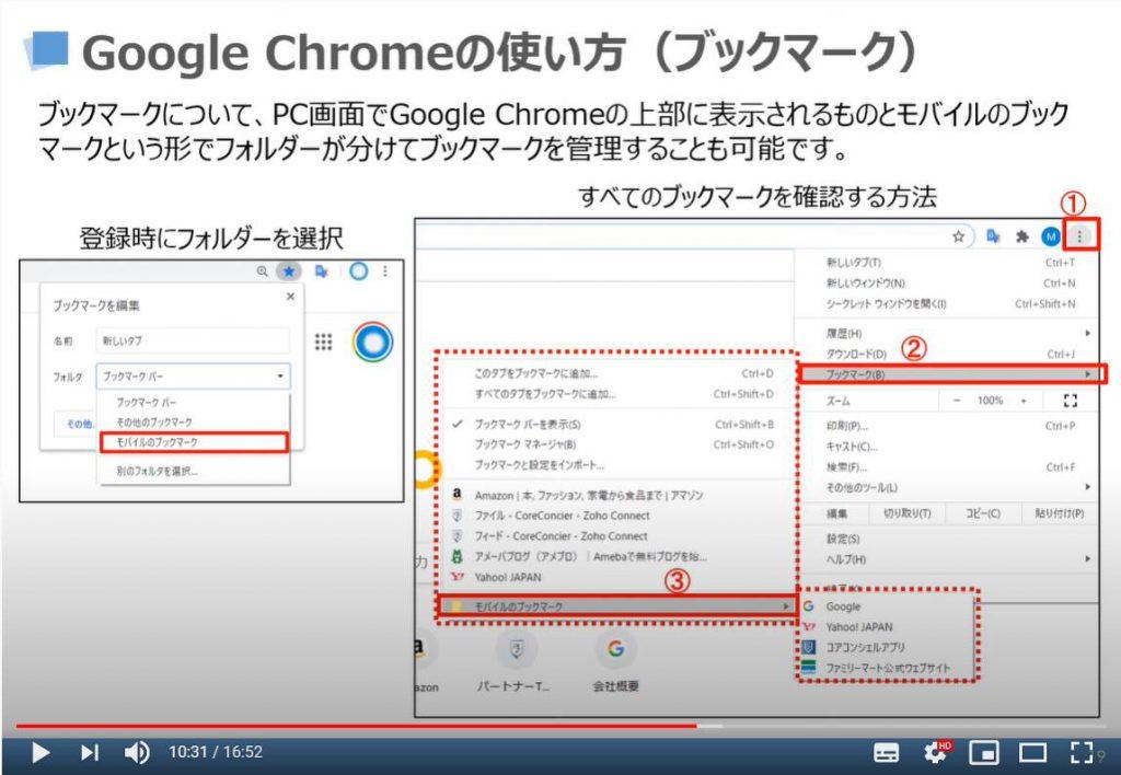 Google Chromeの使い方(ブックマーク)