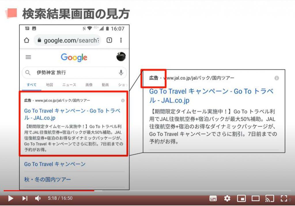 検索結果画面の見方