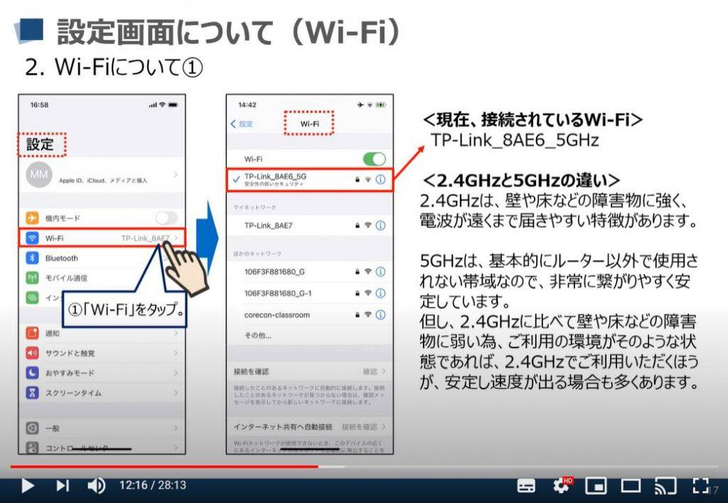 iPhone等のiOS端末の設定画面:Wi-Fi(ワイファイ)について