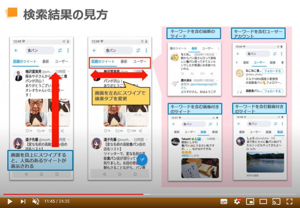 Twitter(ツイッター)の使い方:検索結果の見方