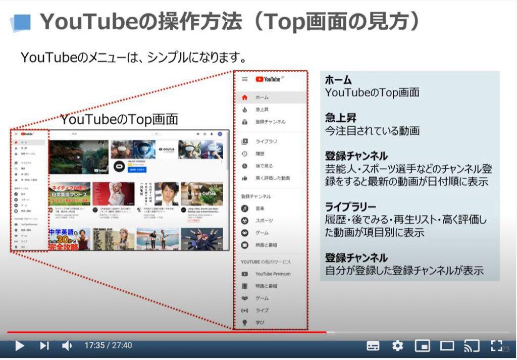 YouTubeの操作方法(後で見る/キューに追加)