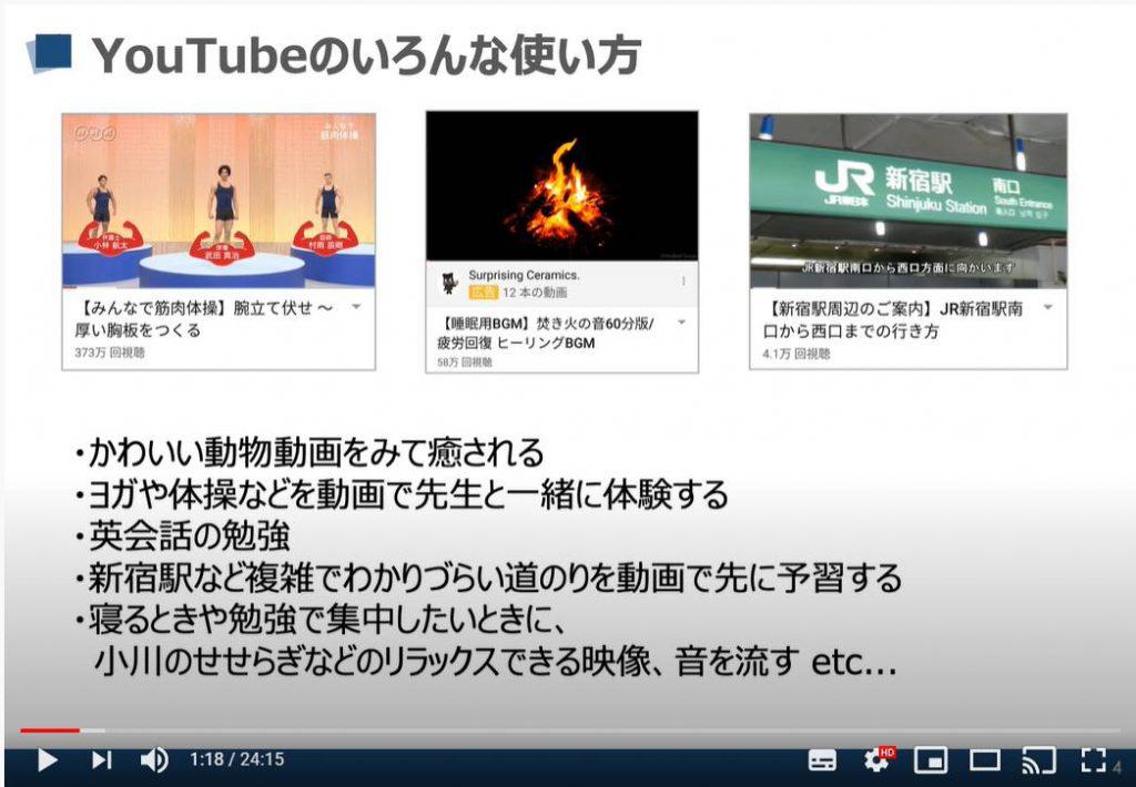 YouTube(ユーチューブ)のいろいろな使い方