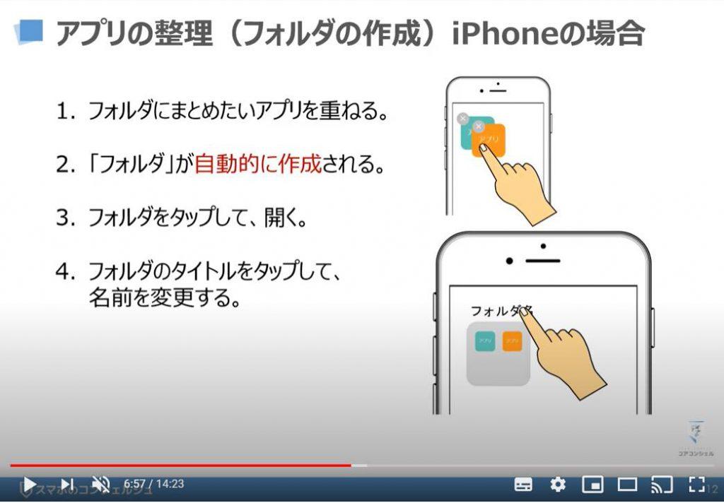 アプリの整理方法:フォルダの作成(iPhoneの場合)