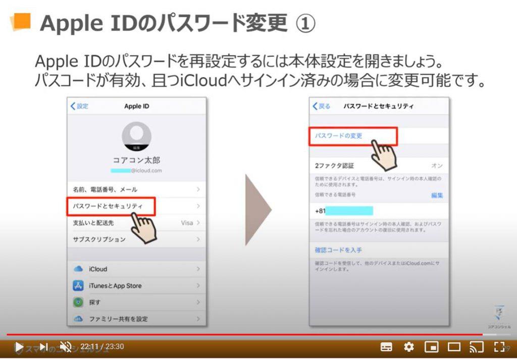 Apple IDのパスワード変更