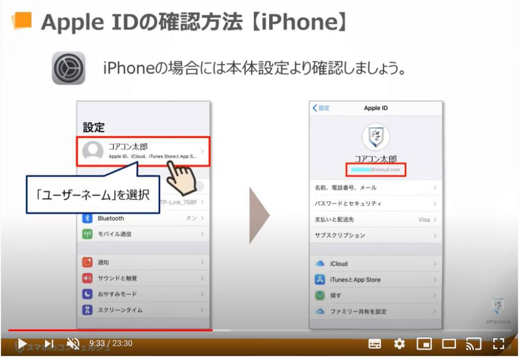 Apple IDの確認方法(iPhone)