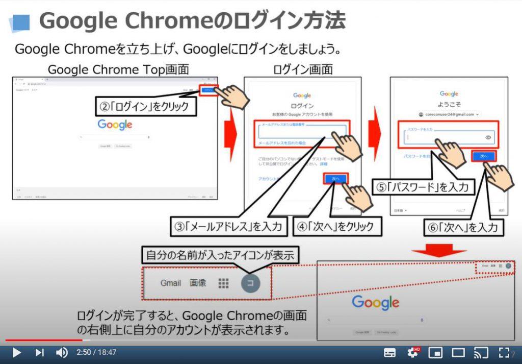 Chrome(クローム)のログイン方法