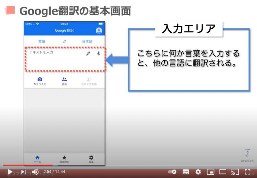 Google翻訳の使い方:Google翻訳の基本画面