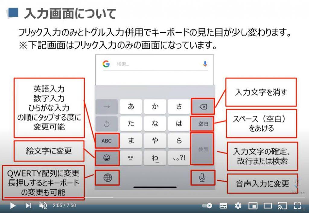 文字入力の基本:入力画面(iPhoneの場合)
