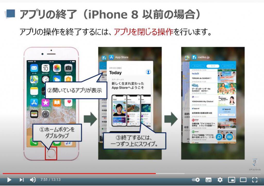 アプリのインストールと削除:アプリの終了方法(iPhone等のiOS端末)