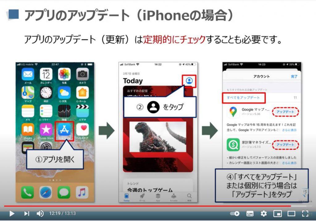 アプリのアップデート(更新)方法(iPhone等のiOS端末)