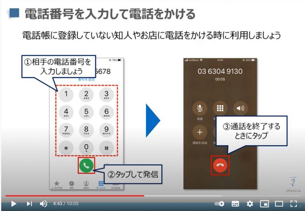 電話アプリの使い方:電話番号を入力して電話を掛ける