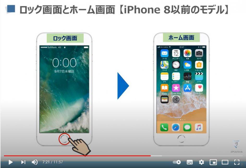 スマホの基本操作:iPhone6/7/8のロック画面とホーム画面について