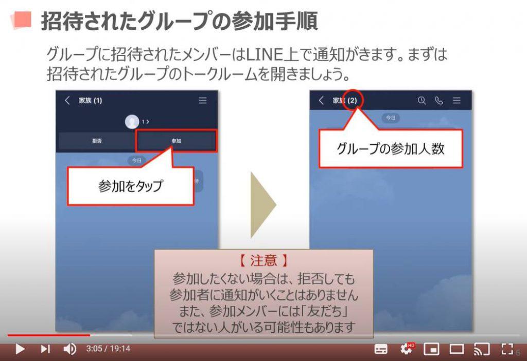 LINEアプリの使い方【 中級編 】:グループ参加方法