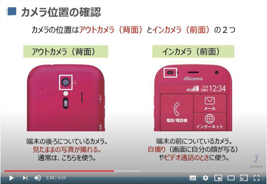 カメラアプリの使い方:カメラ位置