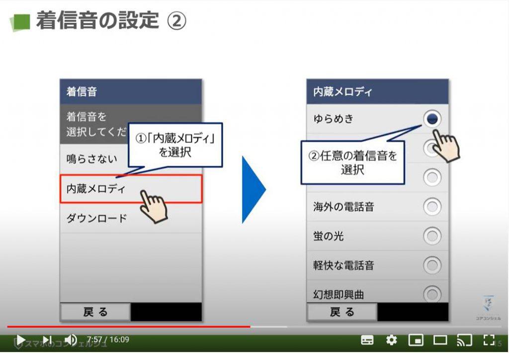 電話アプリの使い方:着信音の設定
