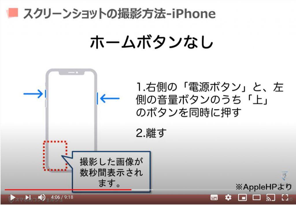 スクリーンショットの撮り方:iPhoneの場合(ホームボタンなし)