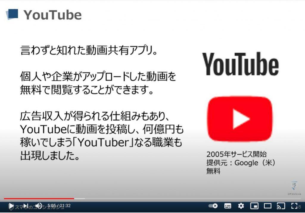 スマホで動画を視聴する:YouTube(ユーチューブ)とは