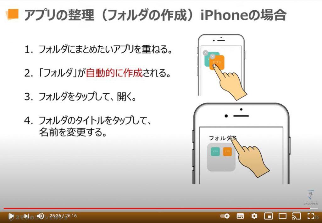 アプリのインストールと削除:アプリの整理とフォルダーの作成方法(iPhone等のiOS端末の場合)