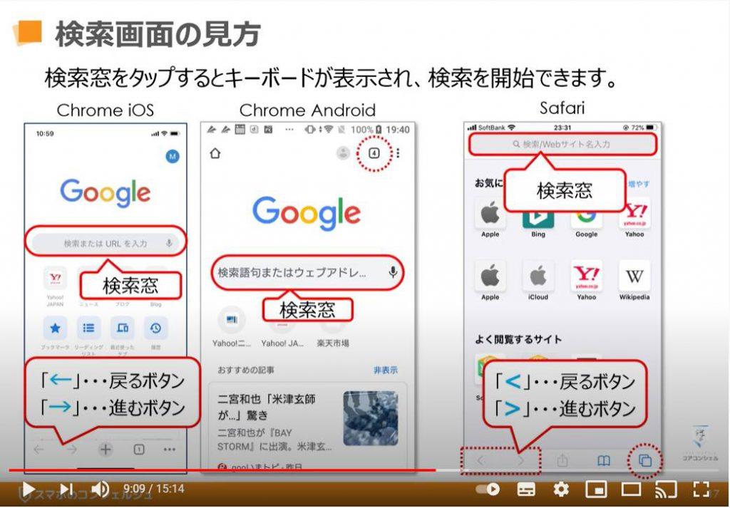 検索の基本:検索画面の見方(Chrome)