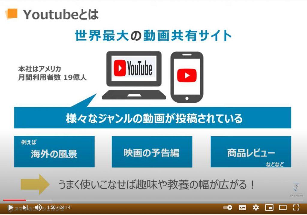 YouTube(ユーチューブ)の使い方:YouTube(ユーチューブ)とは