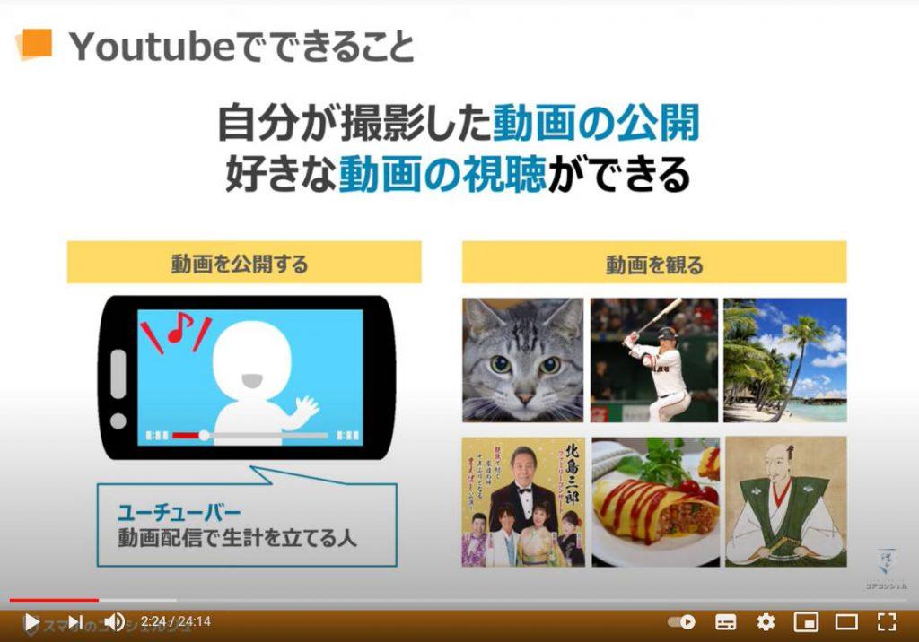 YouTube(ユーチューブ)の使い方:YouTube(ユーチューブ)で出来る事