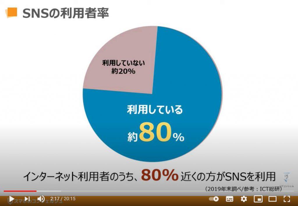 SNSとは:SNSの利用者率