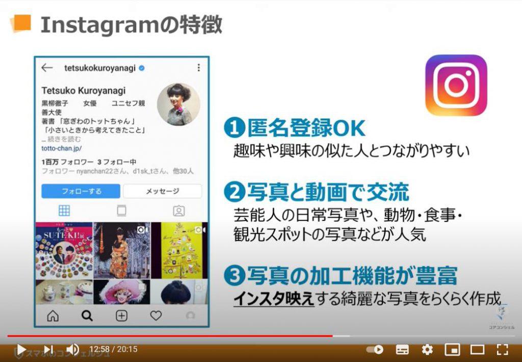 Instagram(インスタグラム:インスタ)の特徴