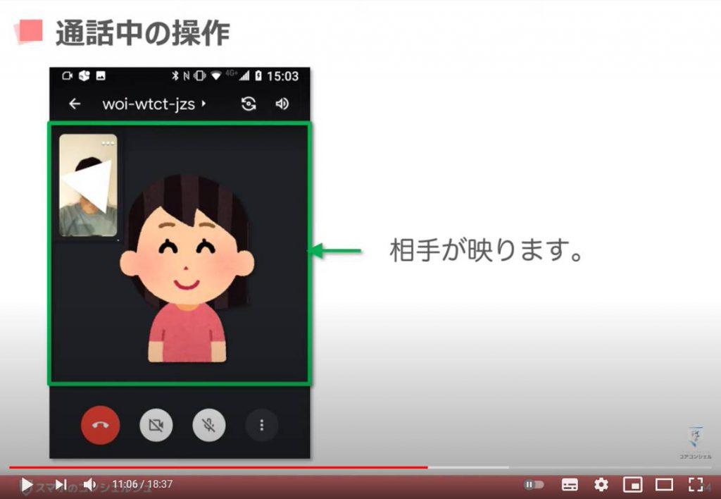 Google Meet(グーグルミート)の使い方:グーグルミートでビデオ通話を開始する方法(ビデオ通話中の操作方法)