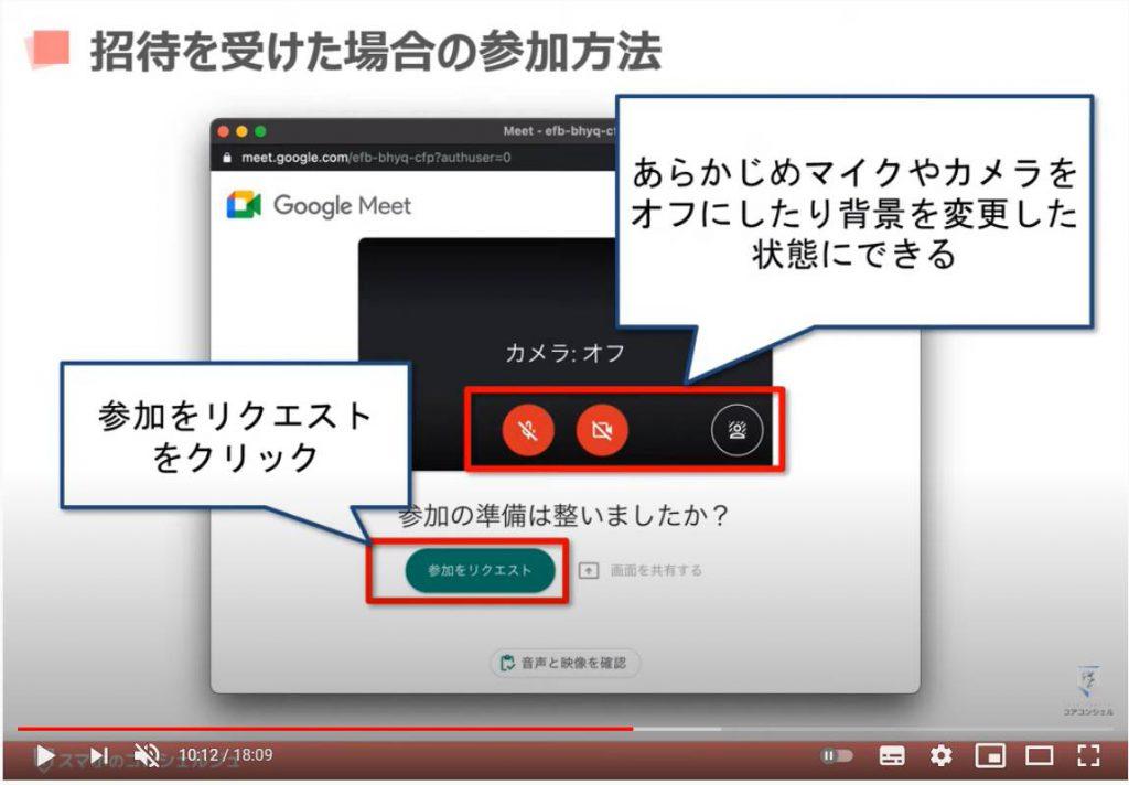 Google Meet(グーグルミート)の使い方:招待を受けた場合の参加方法
