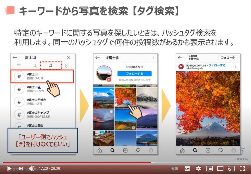 Instagram(インスタグラム)の使い方:キーワードから写真を検索(タグ検索)