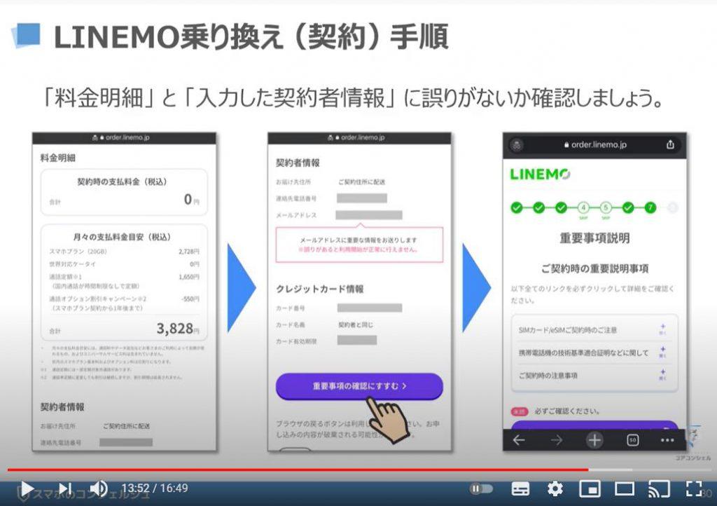 LINEMO(ラインモ)の乗換え方法:LINEMO(ラインモ)の乗換え(契約)手順について