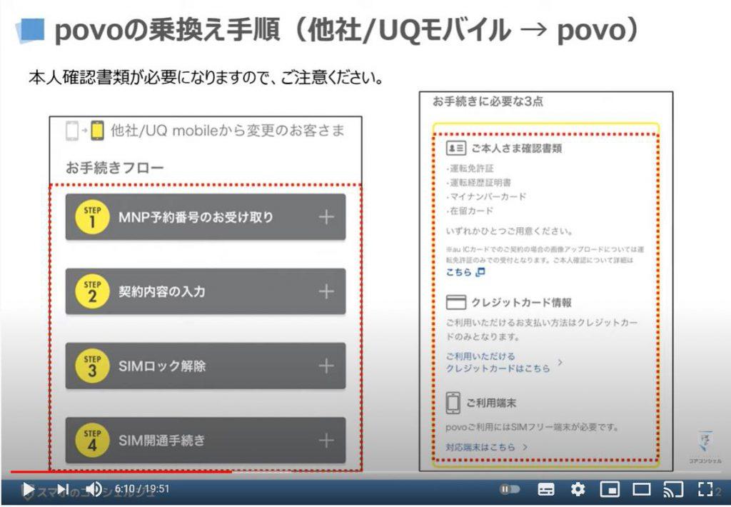 アのSIMロック解除方法:au povo(ポヴォ)のオンライン手続き|乗換え時の注意点|3キャリアのSIMロック解除方法:povo(ポヴォ)の乗り換え手順(他社/UQモバイル→povo)
