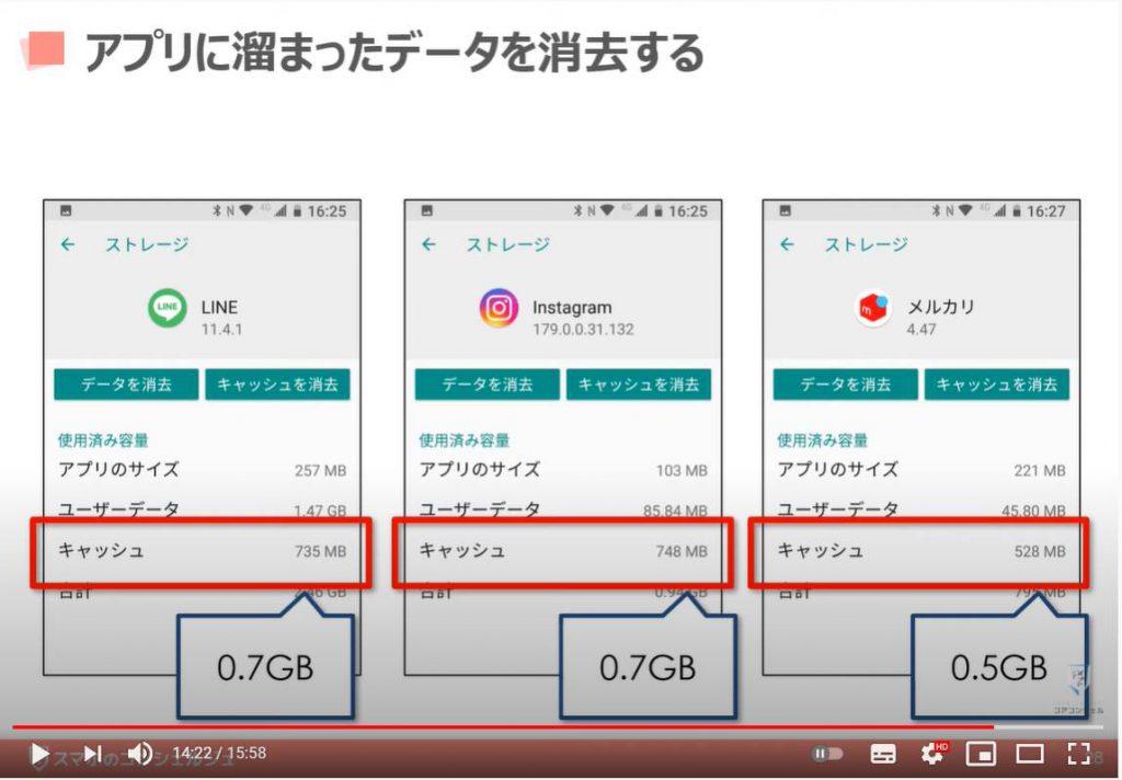 ストレージがいっぱいの時にストレージを減らす方法:アプリにたまったデータを消去する方法(Android端末の場合)