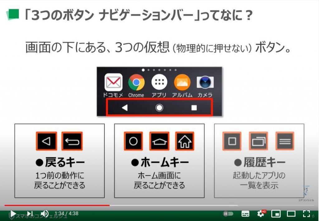 スマホの画面下に3ボタン ナビゲーションバーを表示する方法:3つのボタン・ナビゲーションバーとは