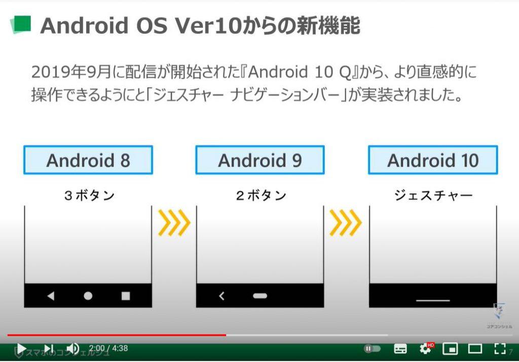 スマホの画面下に3ボタン ナビゲーションバーを表示する方法:Androidバージョン毎のナビゲーションバーの違い
