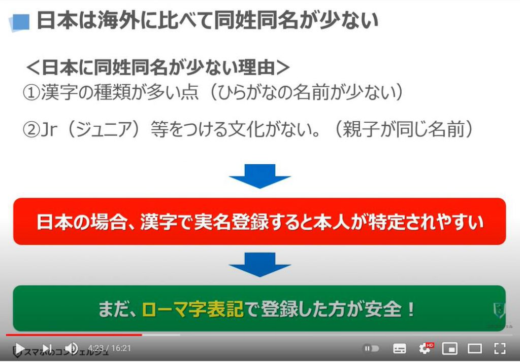 グーグルアカウントは実名登録すべき?ローマ字表記の登録がお勧めな理由を解説:海外に比べて同姓同名が少ない日本