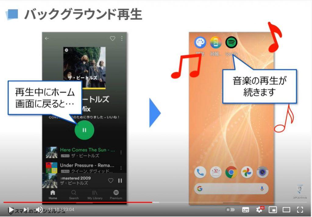 人気音楽アプリ|Spotifyの使い方: Spotifyの基本操作(バックグランド再生とは)