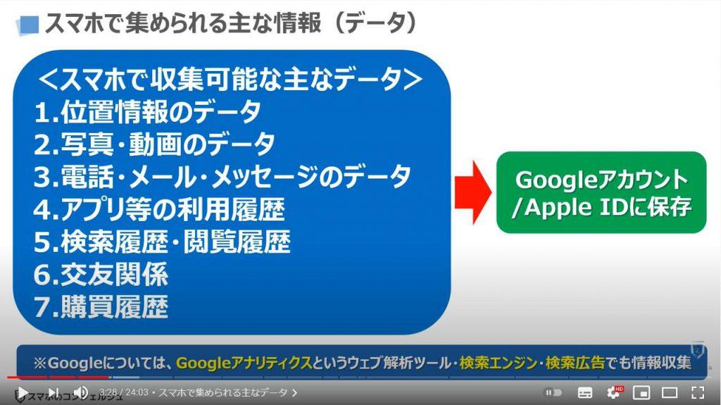 グーグルとアップルの狙い:スマホで集められる主なデータ