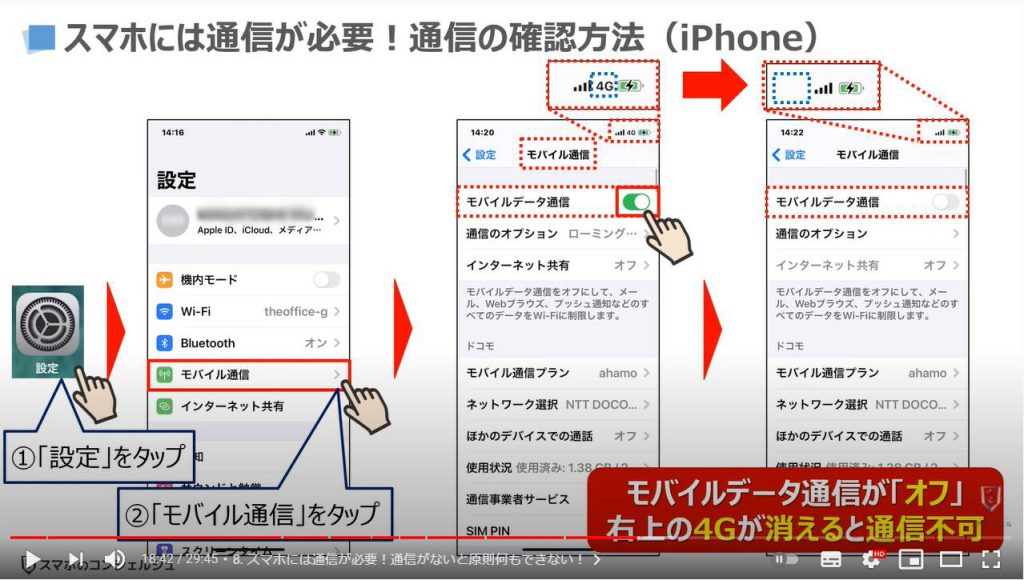 スマホの基本15選:スマホには通信が必要(iPhone)